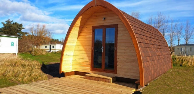 Outside view of the Eco Pods