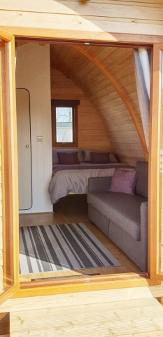 View inside the Eco Pod
