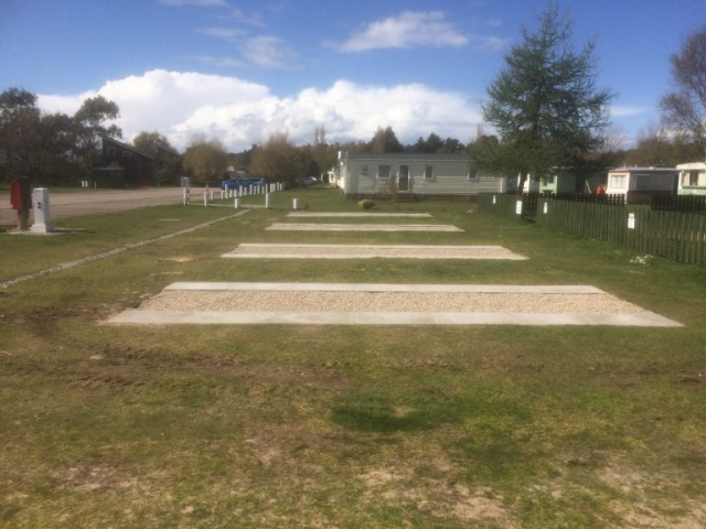 Findhorn Bay Holiday Park Hard Standing Pitches